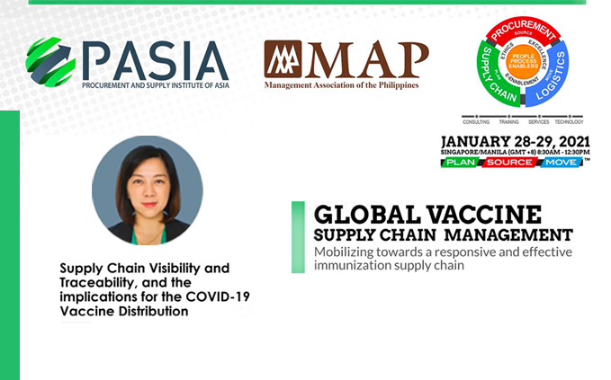 Joined PASIA's Web Conference about Global Vaccine Supply Chain Management