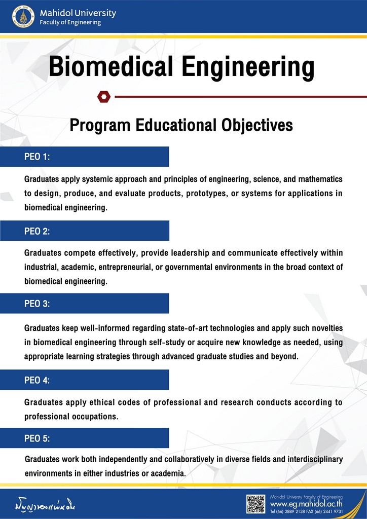 Biomedical Engineering Program Education Objectives