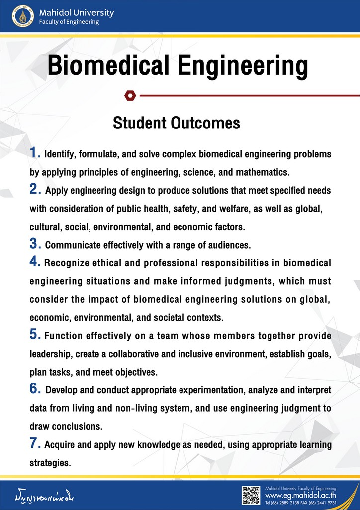 Biomedical Engineering Student Outcomes