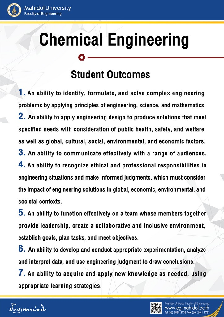 Chemical Engineering Student Outcomes