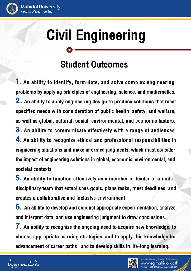Civil Engineering Student Outcomes