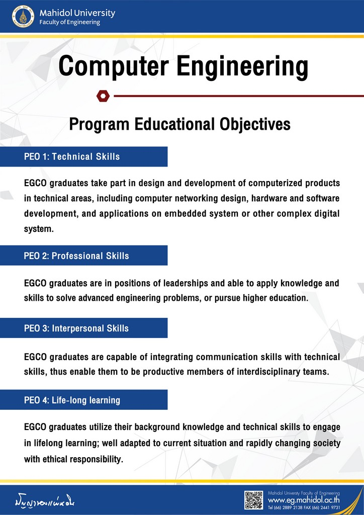 Computer Engineering Program Education Objectives
