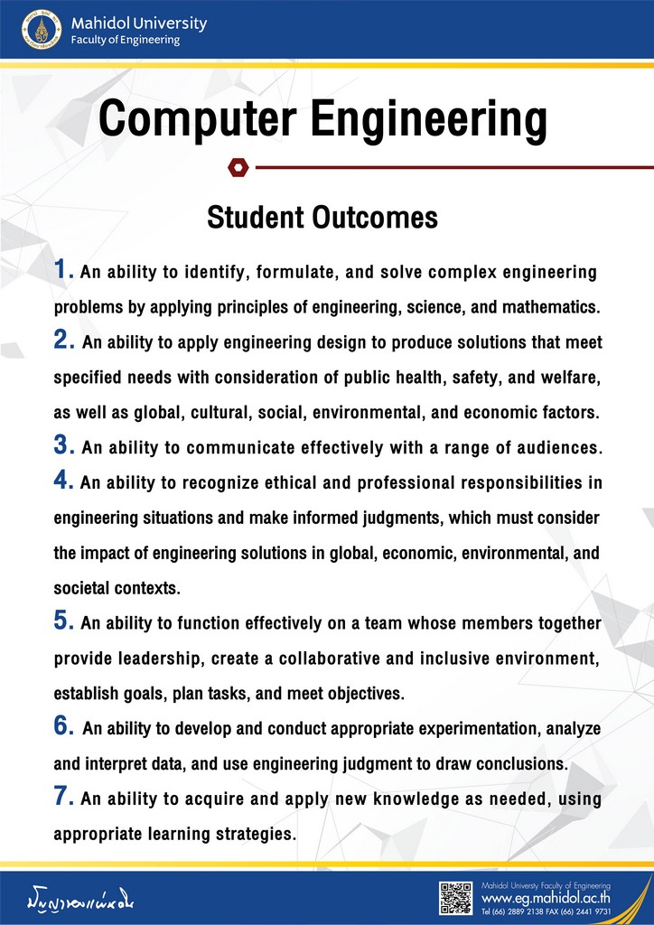Computer Engineering Student Outcomes