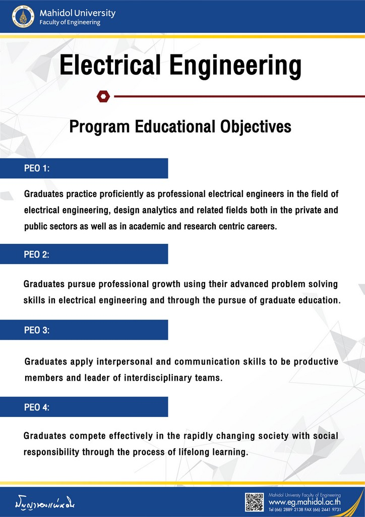 Electrical Engineering Program Education Objectives
