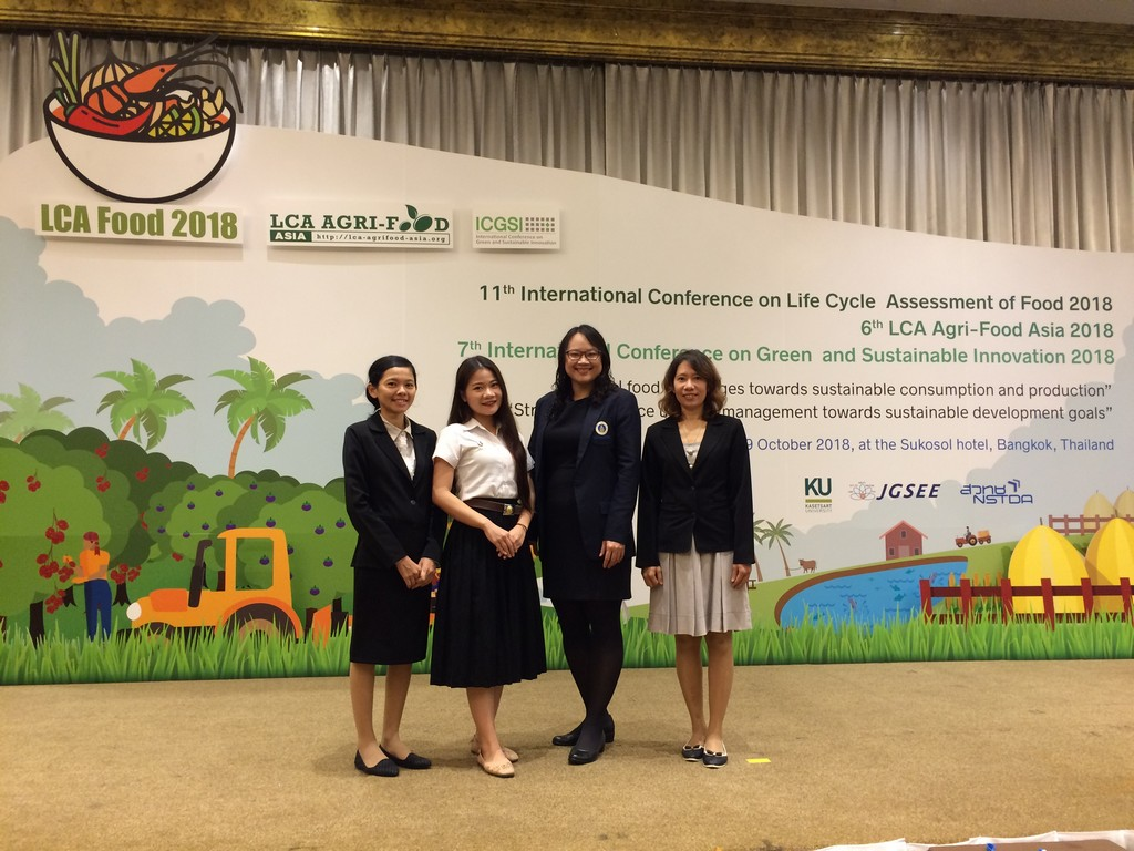 Mahidol Engineering EcoLab and RCLCA at LCA Food-LCA Agrifood Asia-ICGSI 2018 and the Next Host of ICGSI 2021